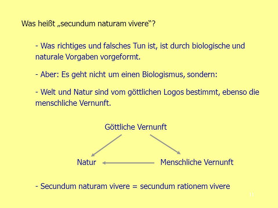 "Was heißt ""secundum naturam vivere"