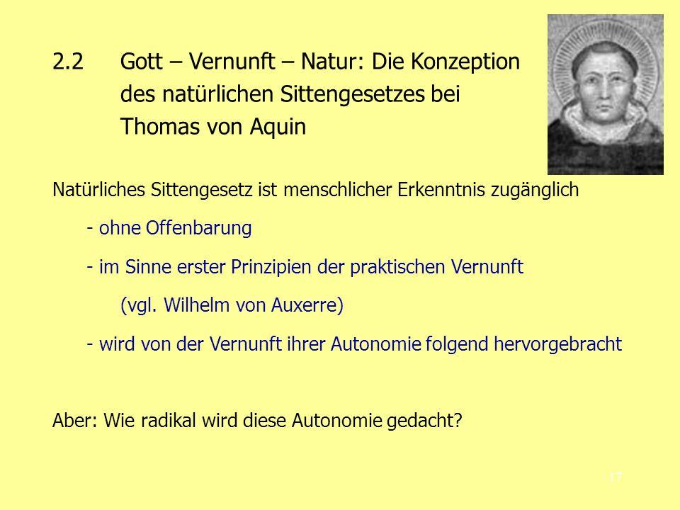 2.2 Gott – Vernunft – Natur: Die Konzeption