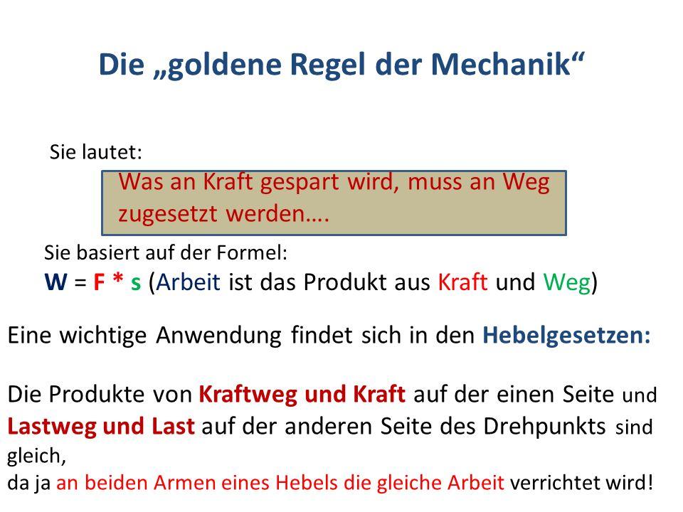 "Die ""goldene Regel der Mechanik"