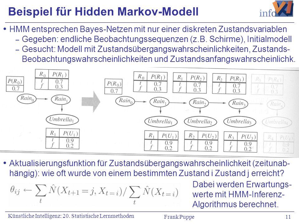 Beispiel für Hidden Markov-Modell
