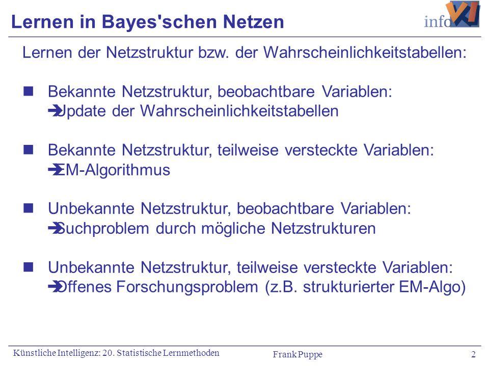 Lernen in Bayes schen Netzen