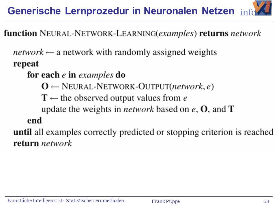 Generische Lernprozedur in Neuronalen Netzen