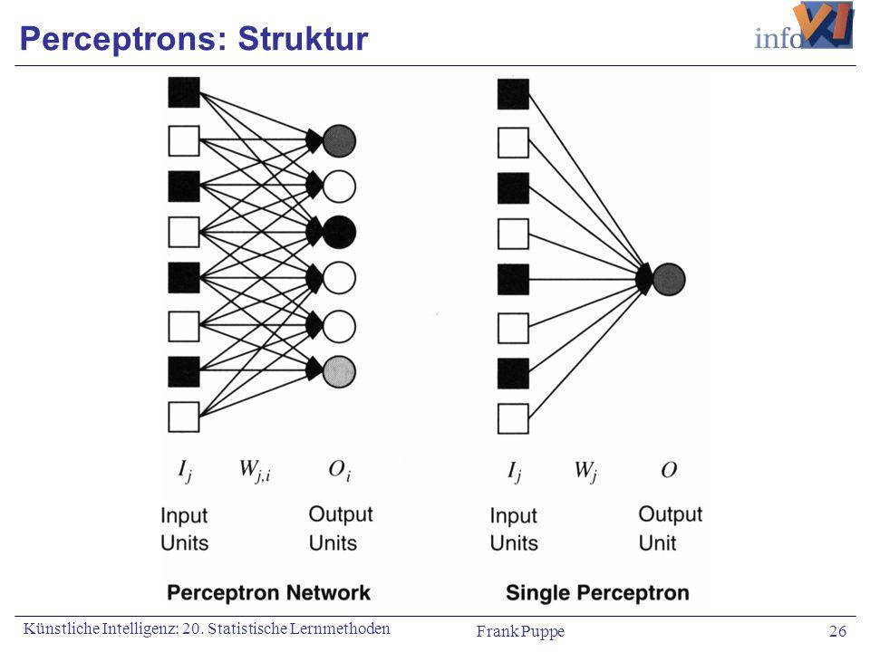Perceptrons: Struktur