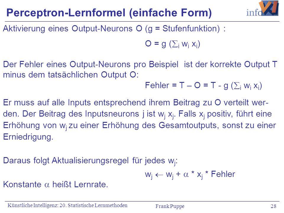 Perceptron-Lernformel (einfache Form)