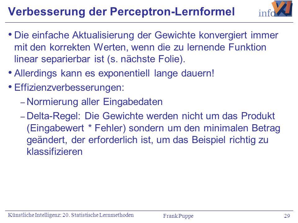 Verbesserung der Perceptron-Lernformel