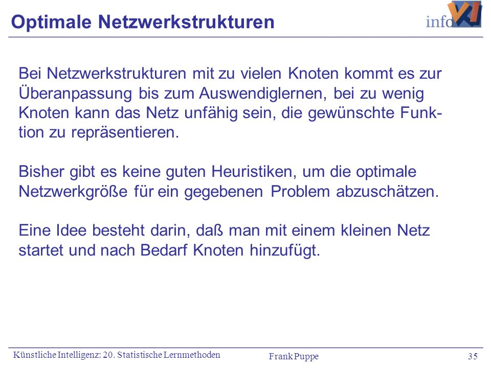 Optimale Netzwerkstrukturen