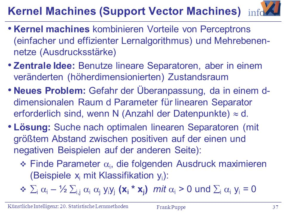 Kernel Machines (Support Vector Machines)