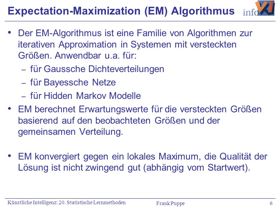 Expectation-Maximization (EM) Algorithmus