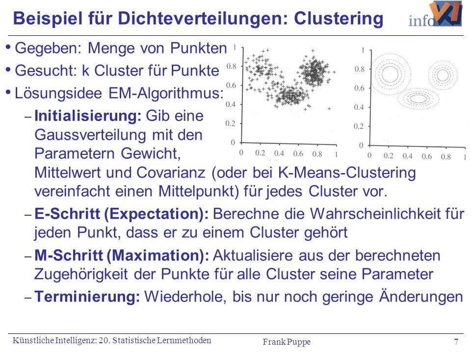 Beispiel für Dichteverteilungen: Clustering