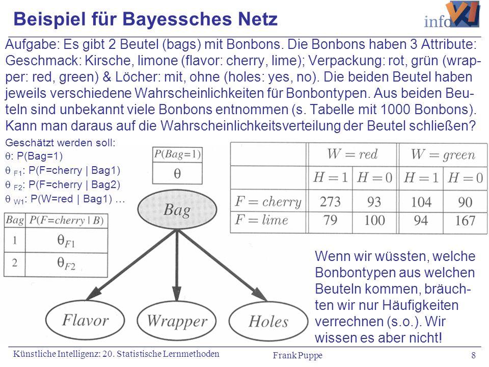 Beispiel für Bayessches Netz