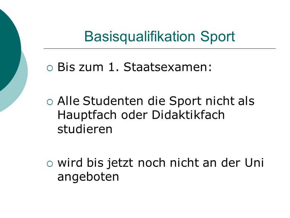 Basisqualifikation Sport