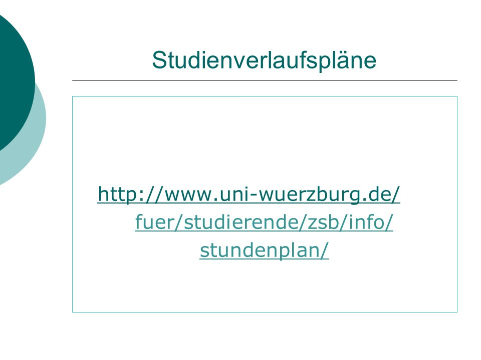 Studienverlaufspläne
