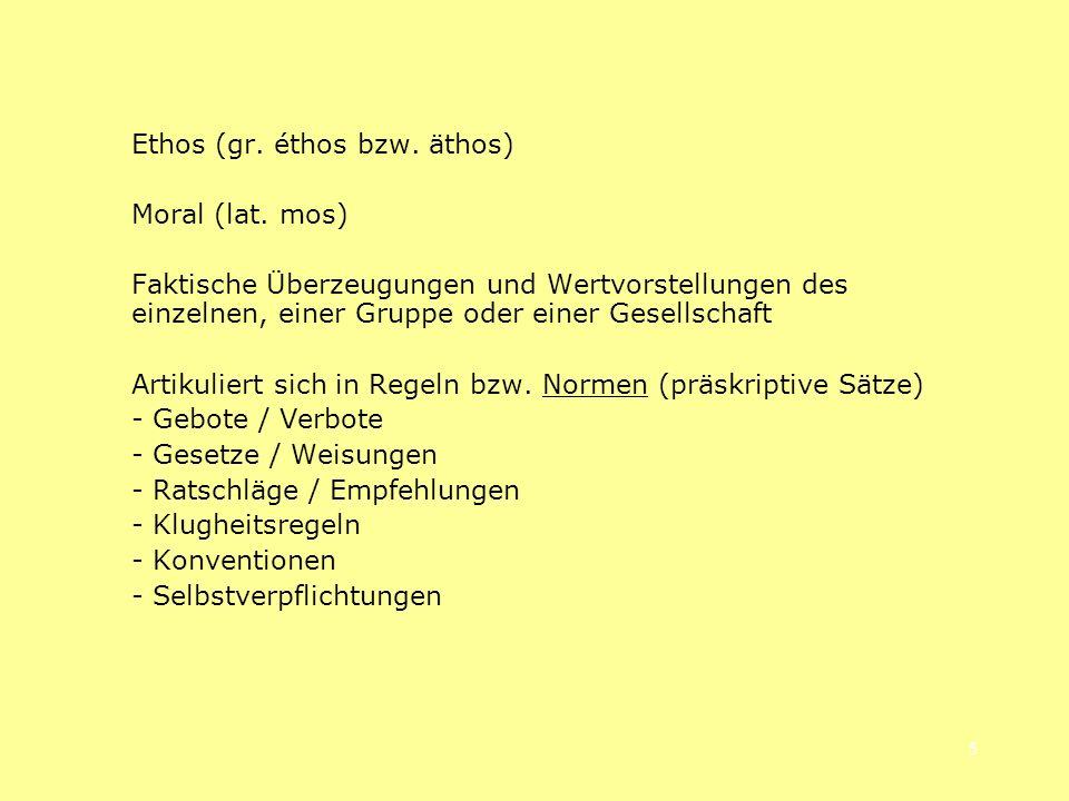 Ethos (gr. éthos bzw. äthos)