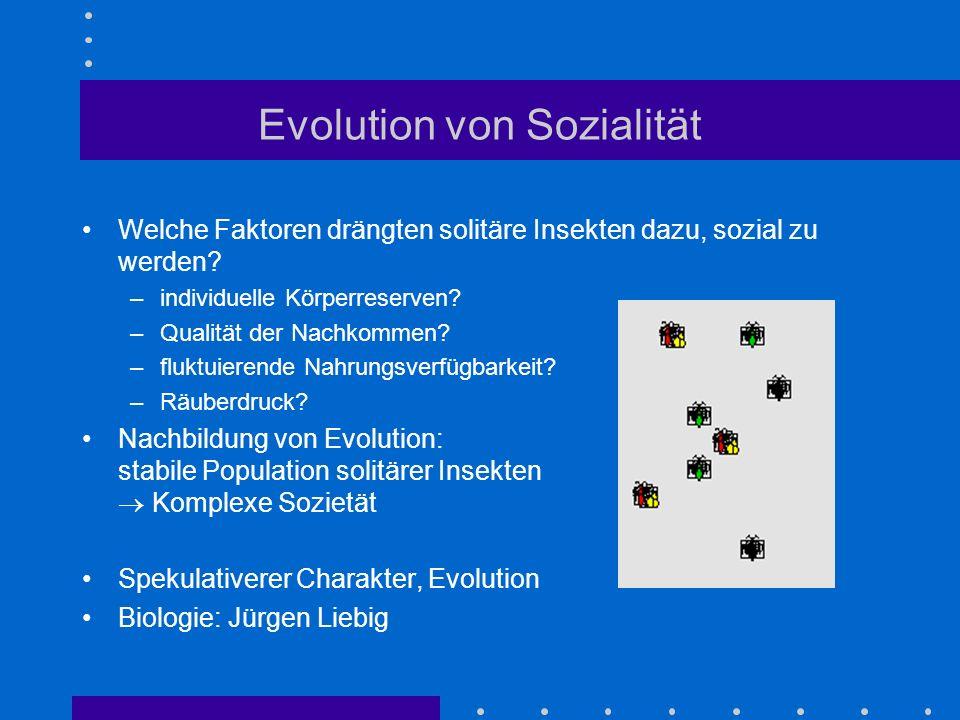 Evolution von Sozialität