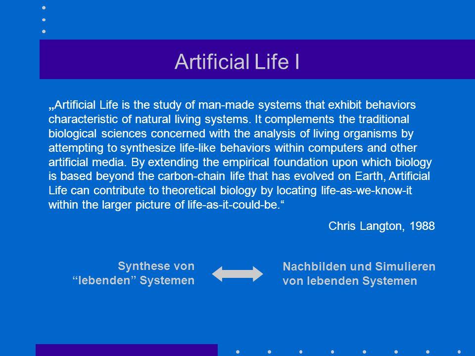 Artificial Life I