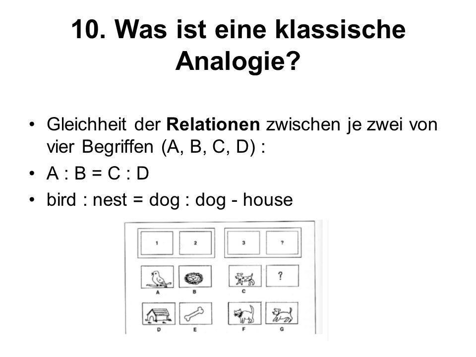 10. Was ist eine klassische Analogie