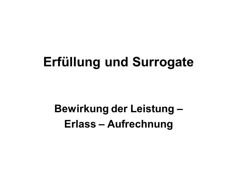 Erfüllung und Surrogate