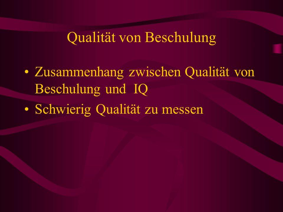 Qualität von Beschulung