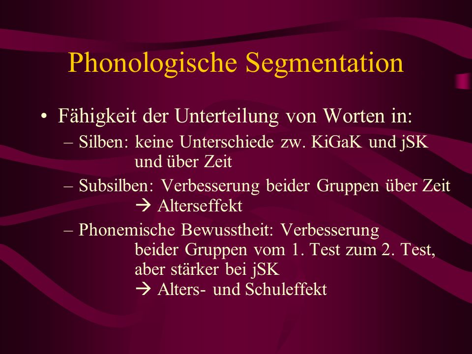 Phonologische Segmentation