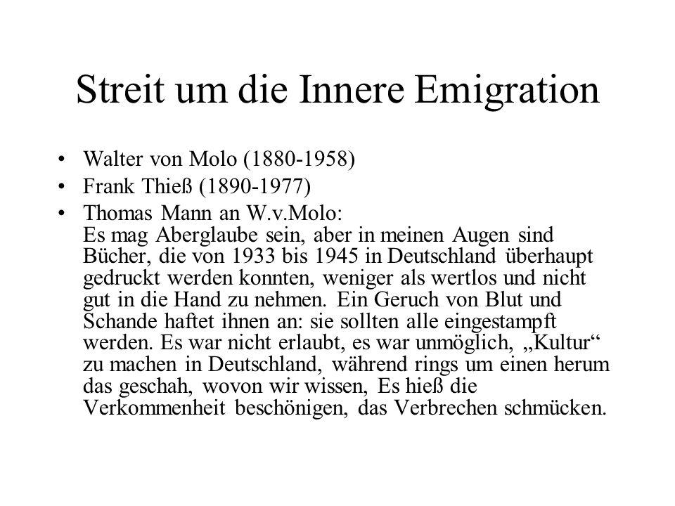 Streit um die Innere Emigration