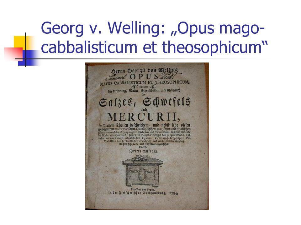 """Georg v. Welling: """"Opus mago-cabbalisticum et theosophicum"""