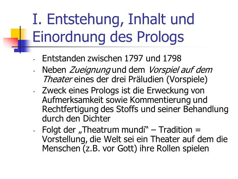 I. Entstehung, Inhalt und Einordnung des Prologs