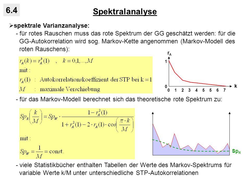Spektralanalyse 6.4 spektrale Varianzanalyse: