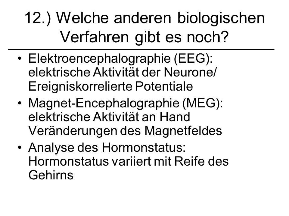 12.) Welche anderen biologischen Verfahren gibt es noch