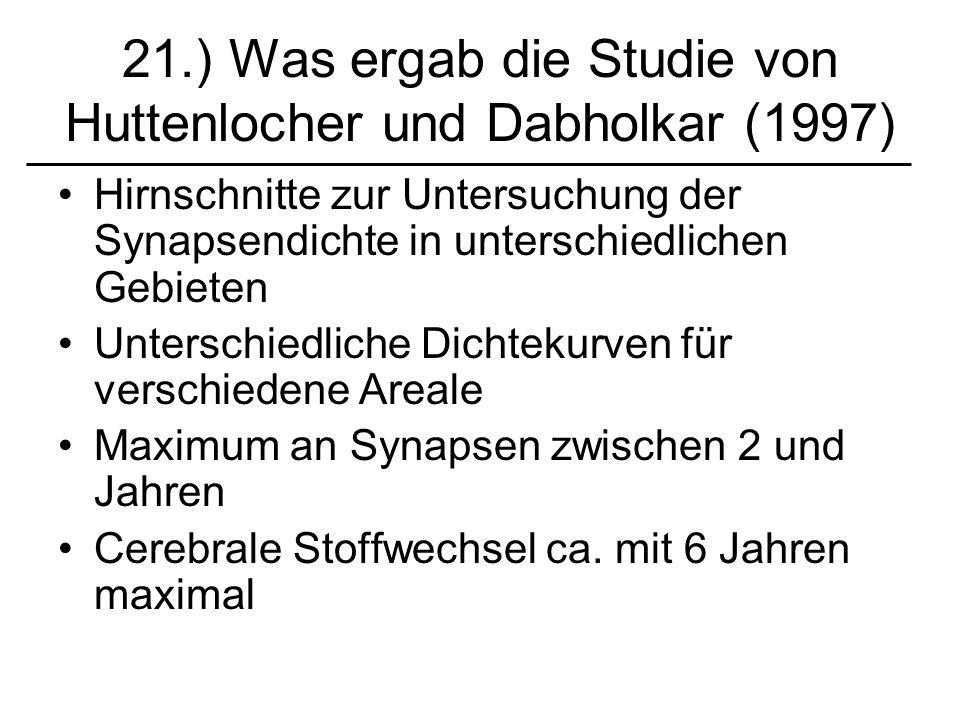 21.) Was ergab die Studie von Huttenlocher und Dabholkar (1997)