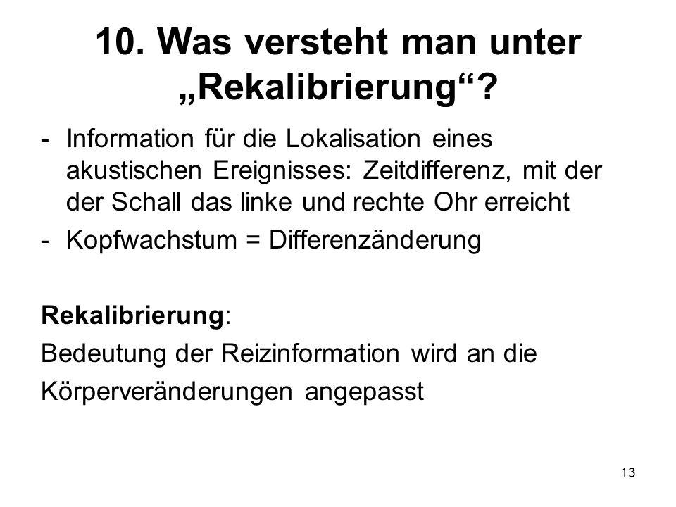 """10. Was versteht man unter """"Rekalibrierung"""