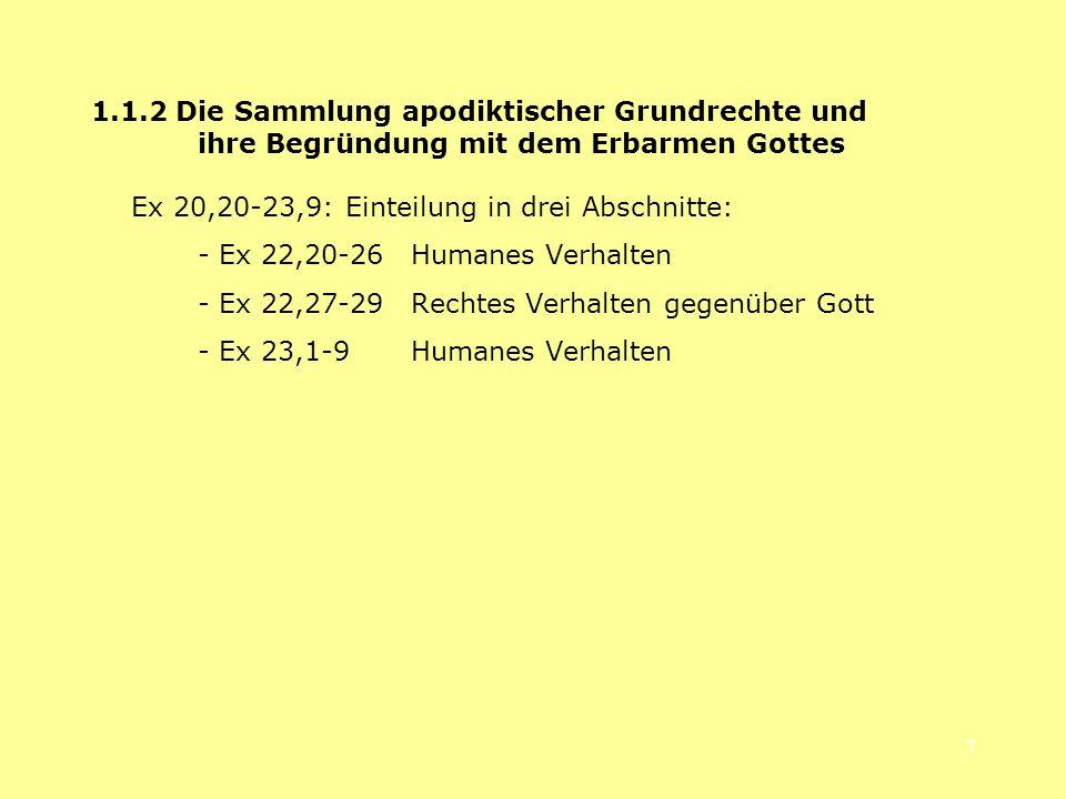 1. 1. 2 Die Sammlung apodiktischer Grundrechte und