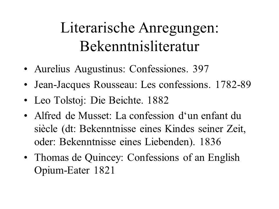 Literarische Anregungen: Bekenntnisliteratur