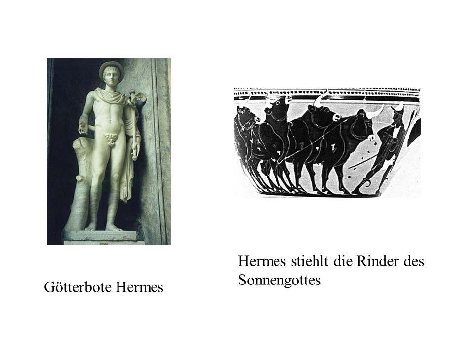 Hermes stiehlt die Rinder des Sonnengottes