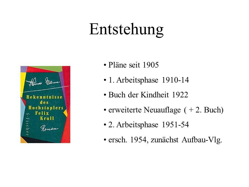 Entstehung Pläne seit 1905 1. Arbeitsphase 1910-14