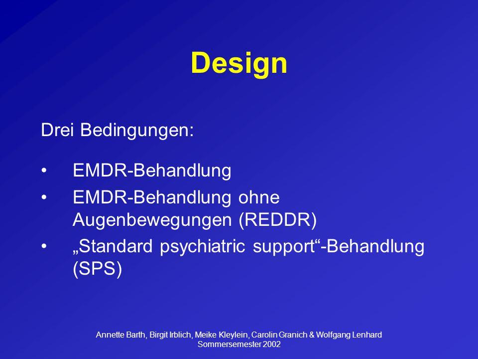 Design Drei Bedingungen: EMDR-Behandlung