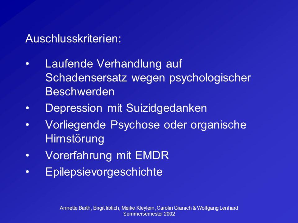 Depression mit Suizidgedanken