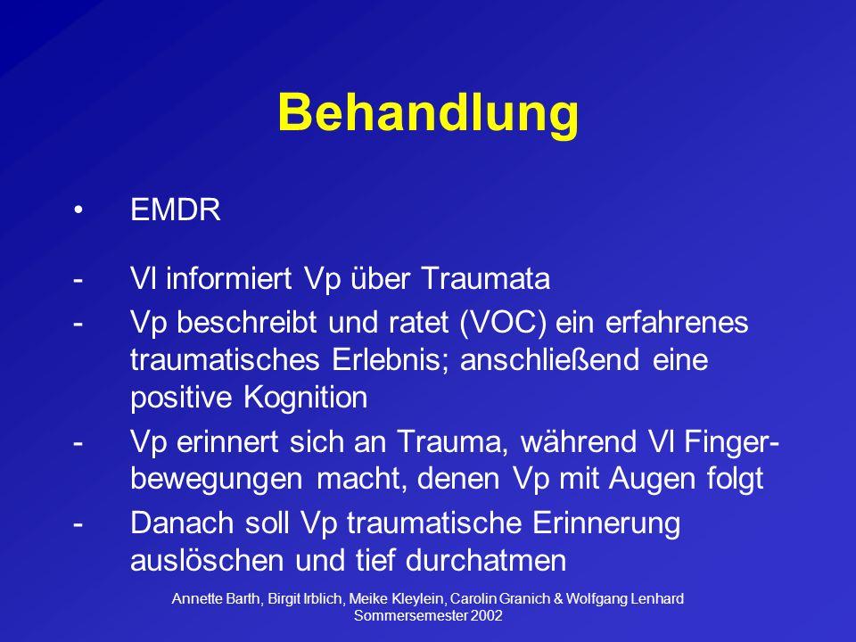 Behandlung EMDR Vl informiert Vp über Traumata