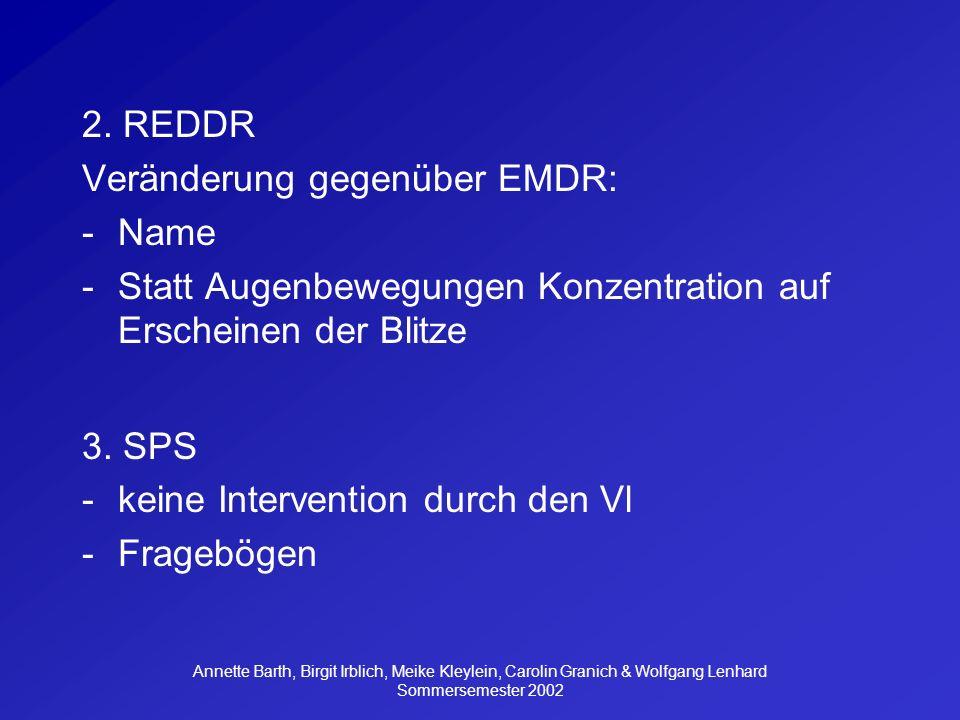 Veränderung gegenüber EMDR: Name