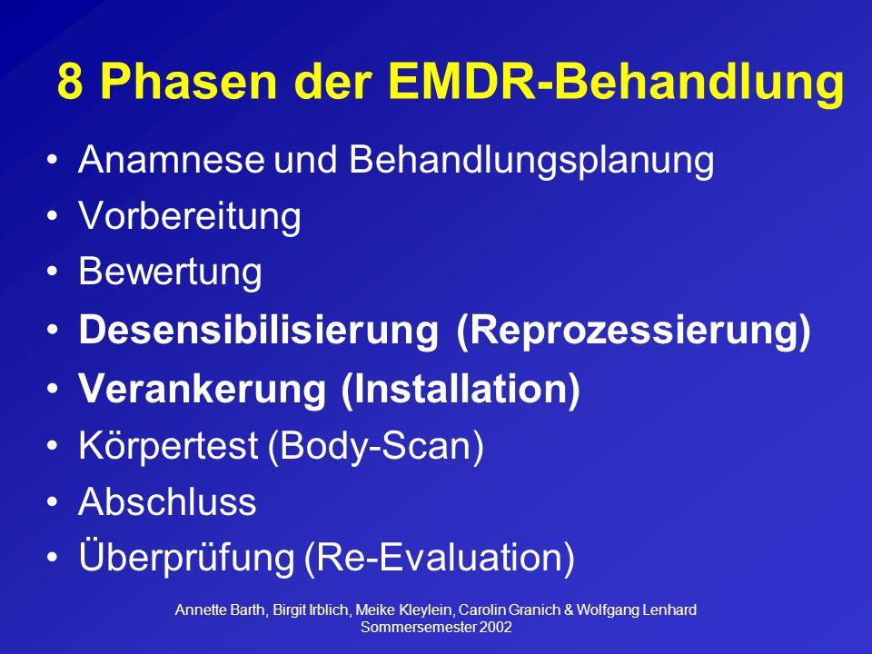 8 Phasen der EMDR-Behandlung