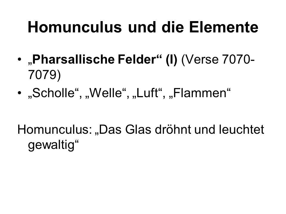 Homunculus und die Elemente