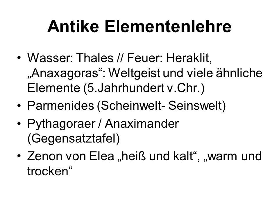 Antike Elementenlehre