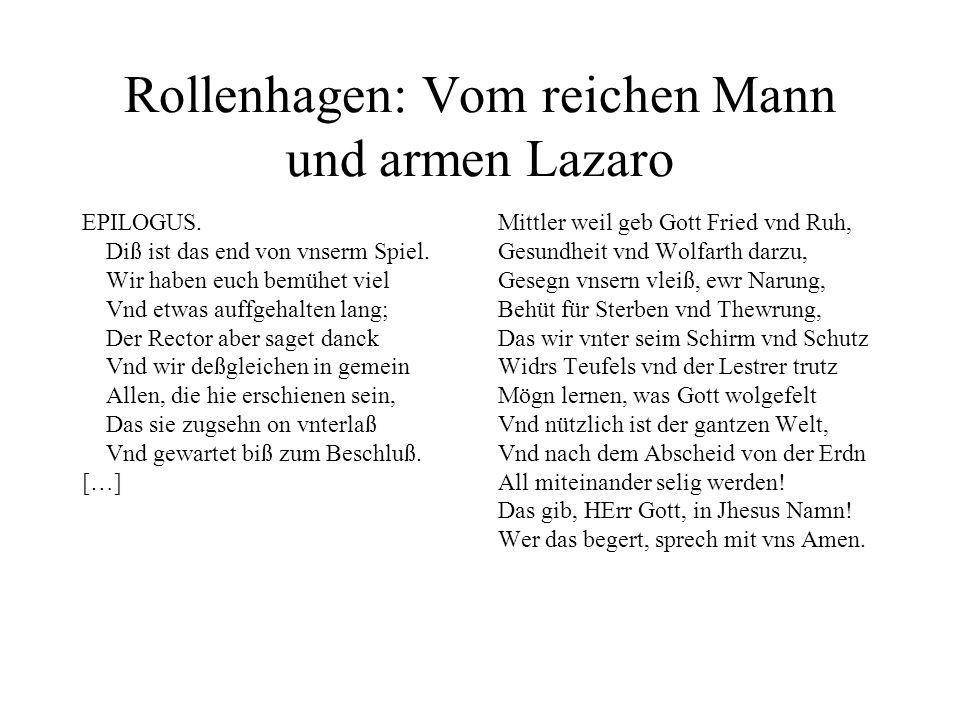 Rollenhagen: Vom reichen Mann und armen Lazaro