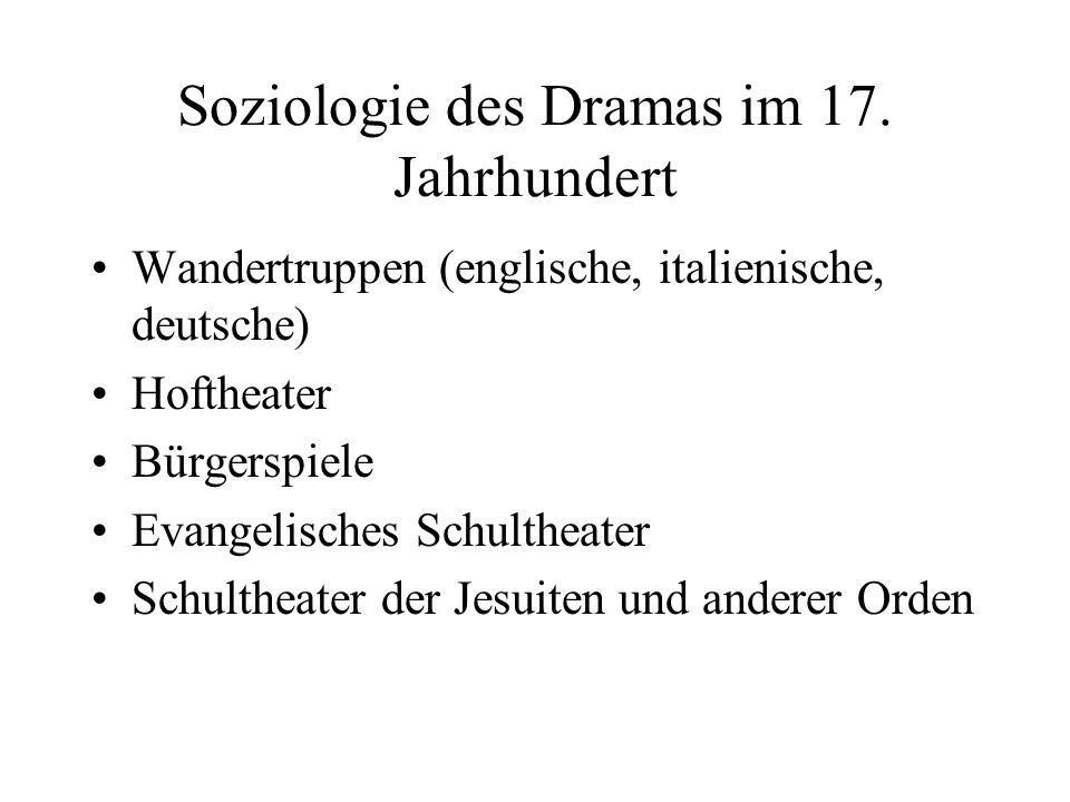 Soziologie des Dramas im 17. Jahrhundert