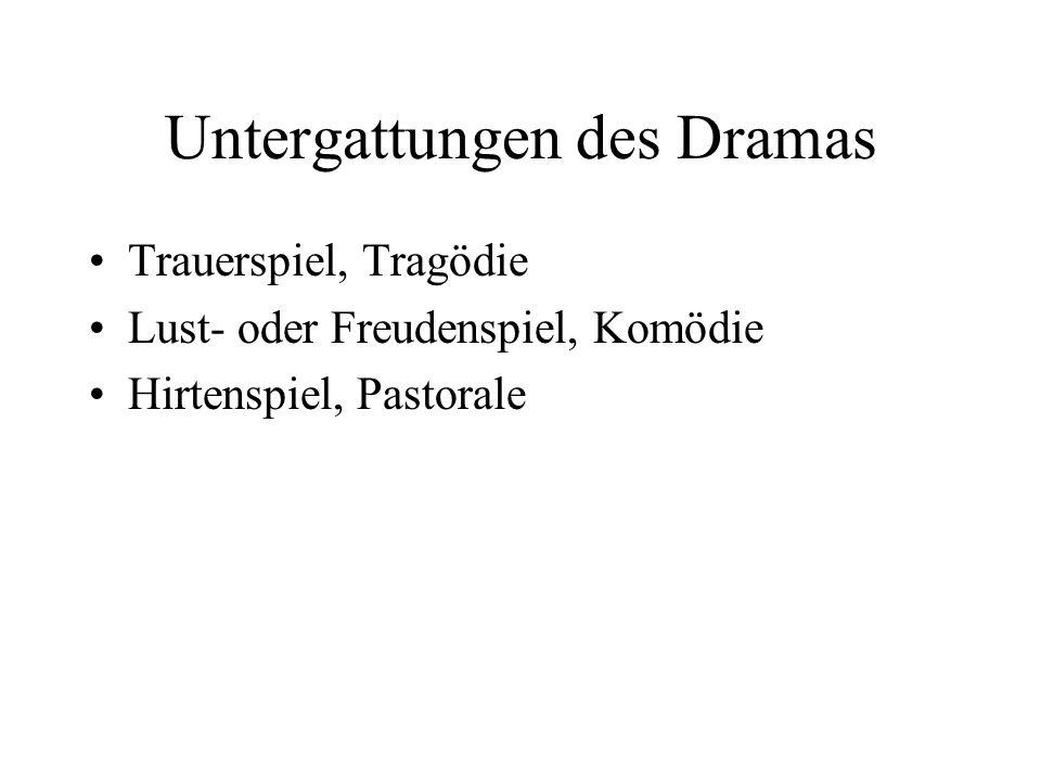 Untergattungen des Dramas