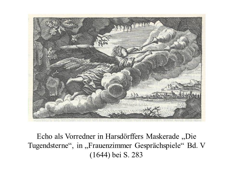 Vgl. das von Harsdörffer erklärte Titel-Kupfer: Fama mit Trompete, Rist Friedejauchtzendes Teutschland.