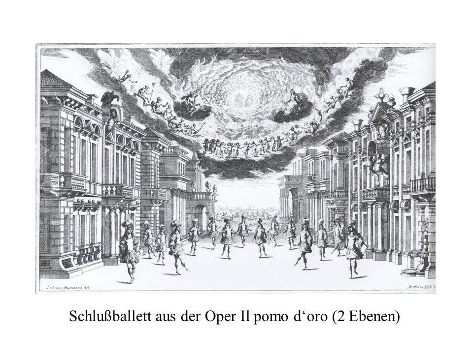 Schlußballett aus der Oper Il pomo d'oro (2 Ebenen)