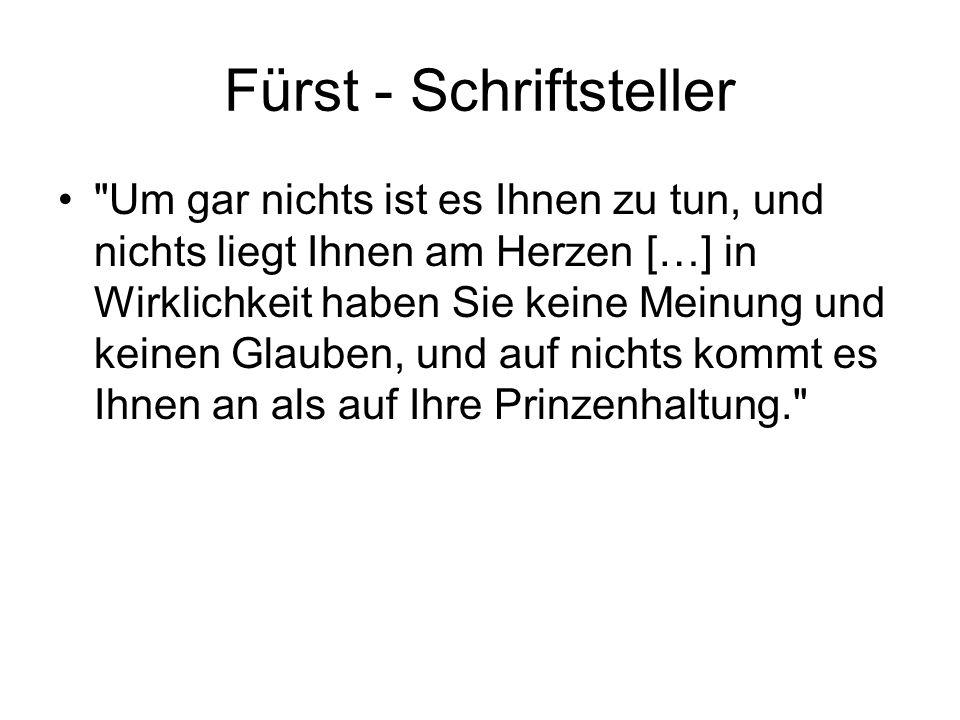 Fürst - Schriftsteller