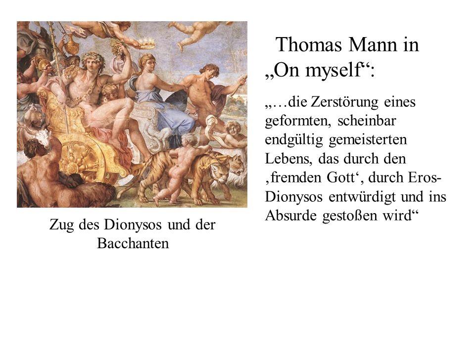 Zug des Dionysos und der Bacchanten