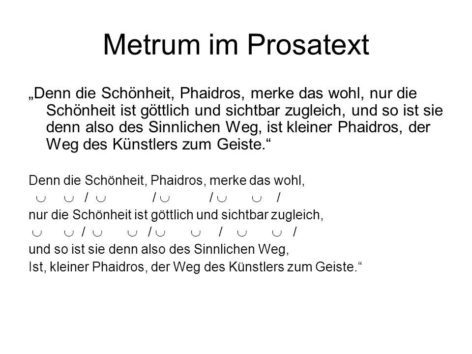 Metrum im Prosatext
