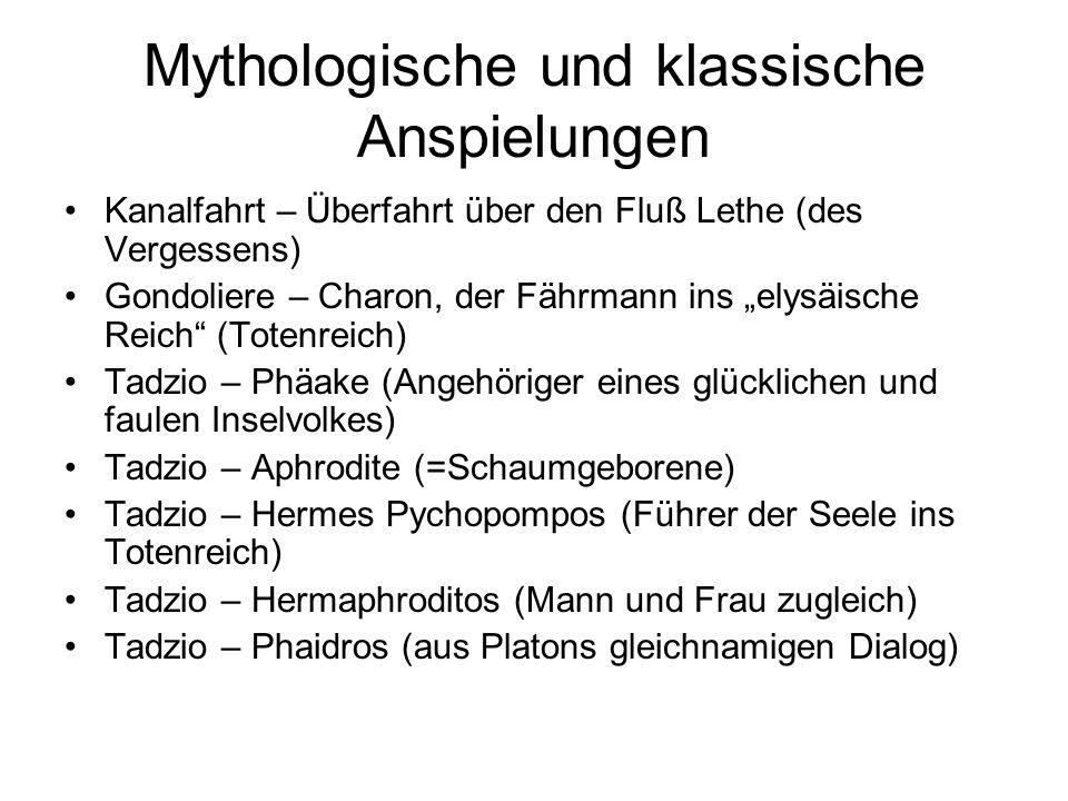 Mythologische und klassische Anspielungen